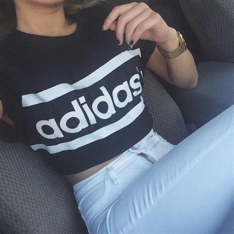 Blouse Nz60915 Blouse Adidas Top shirt adidas adidas top black white black and white