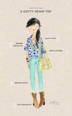 Dotty Top Original artist pearl frush pastel on illustration
