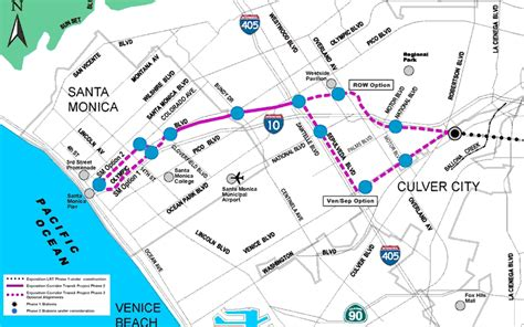 expo line map expo line not yet completed prepares for extension to santa 171 the transport politic