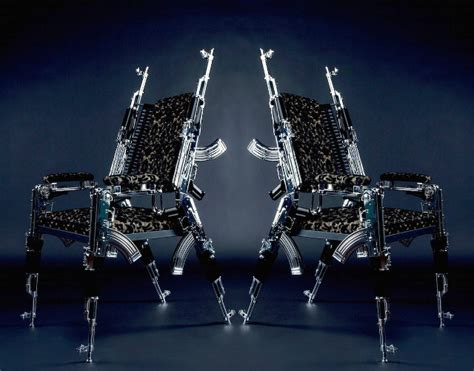 Tony Montana Chair by Tony Montana Style Chair Made From Real Ak 47 S Geekologie