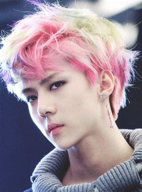 popular kpop hair colours yehettt sehun magnae exo kpop pinterest sehun
