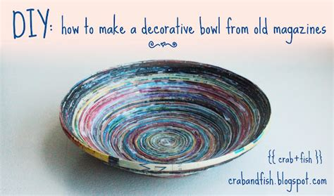 How To Make Paper Bowls From Magazines - recycled paper craft