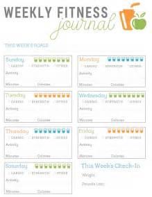 free printable fitness journal