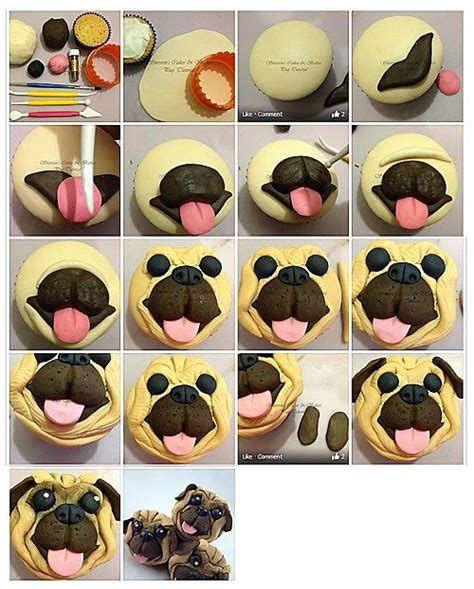 pug tutorial pug cupcake topper picture tutorial cakes cakes cupcake toppers and