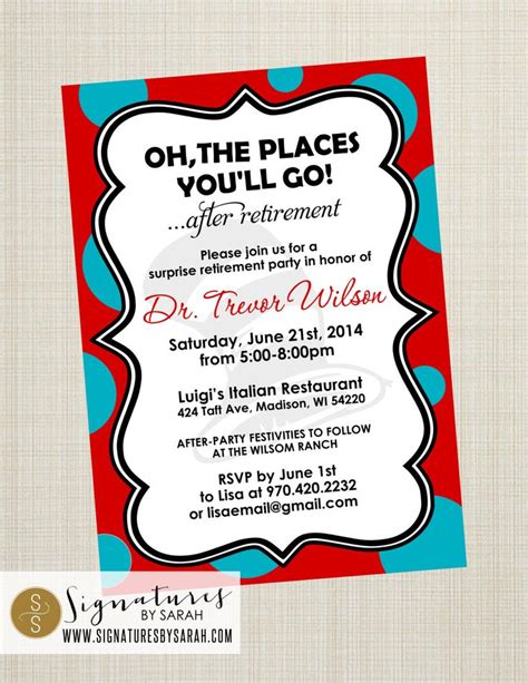 beyond oh the places you ll go 7 printable quot oh the places you ll go quot retirement invite by