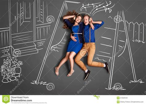 romantic swing songs romance on swing stock illustration image 57523123