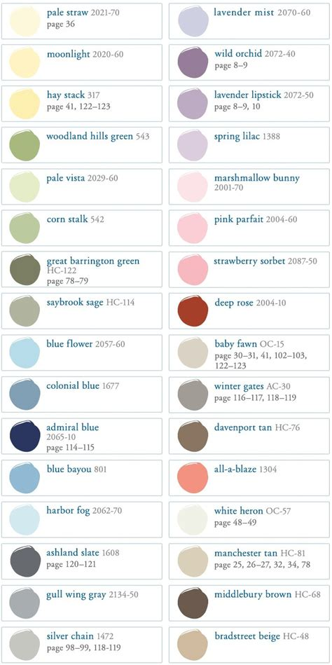 benjamin pottery barn paint colors