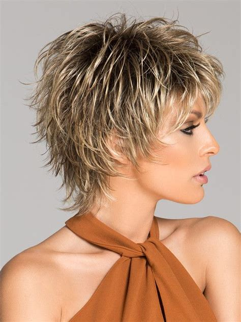 how to cut choppy layers in hair click short synthetic wig basic cap edgy style