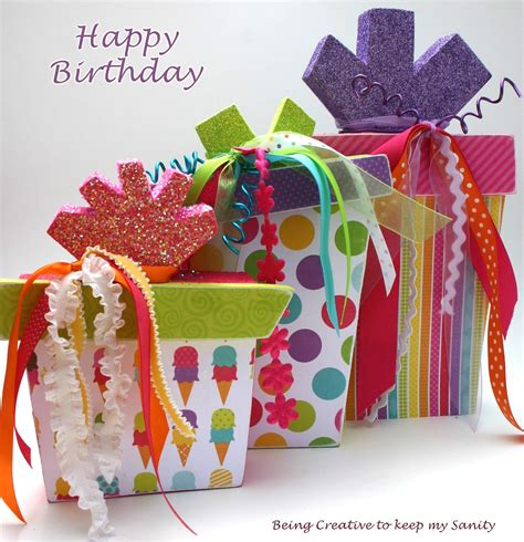 Present Decorations by Being Creative To Keep Sanity Birthday Present Decor