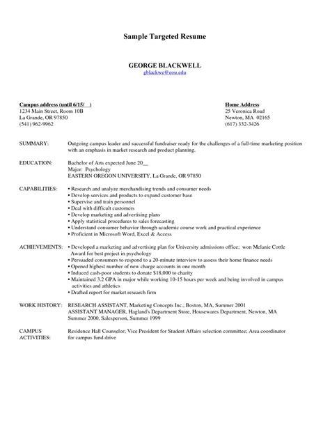 Target Resume Sles by Update 204 Targeted Resume Sles 31 Documents Bizdoska