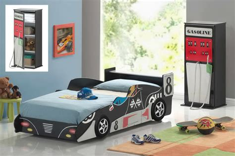 twin car beds for boys good trading black wood race sports car boys kids twin
