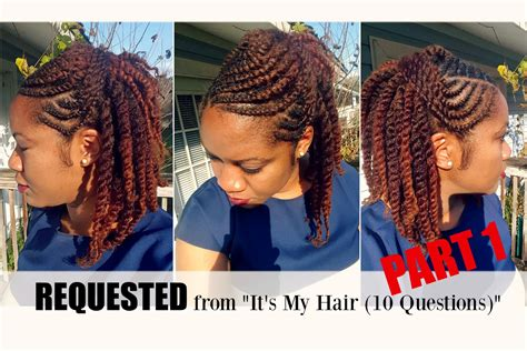 flat twist hairstyles on natural hair part 1 naturally
