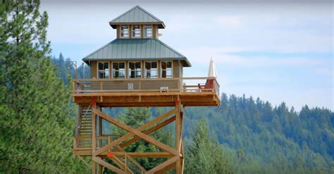 fire lookout tower plans dabney alan s fire lookout tower tiny house living