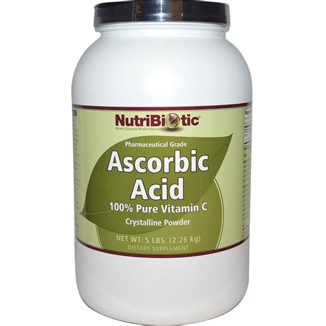 nutribiotic ascorbic acid 100 pure vitamin c crystalline powder 5 lbs 2 26 kg iherb com