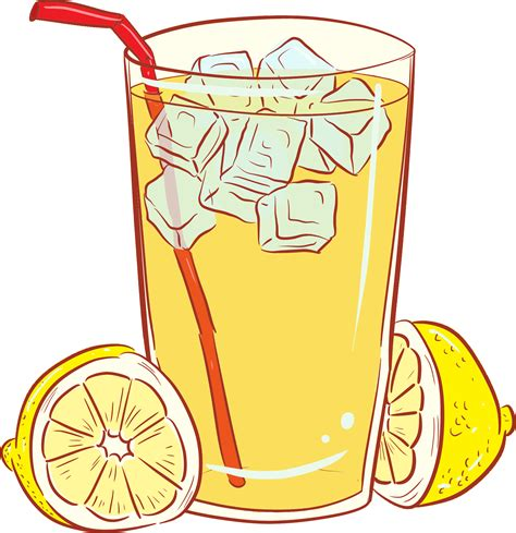 Lemonade Clipart A Cold Glass Of Lemonade Vector Graphic Image Free Stock