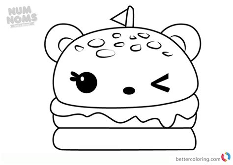 Burger Coloring Page