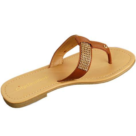 flip flat shoes s rhinestone sandals t thongs slip on flats