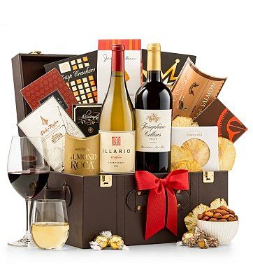 Bj 8873 Big Flower Top business class selections wine baskets make a great