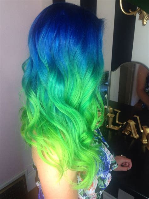 aqua hair color blue green neon aqua hair color ombr 233 melt theglam room