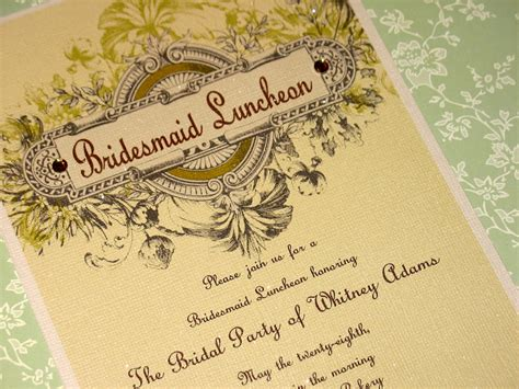 Photo Bridesmaid Luncheon Invitation Cards Bridal Image Bridesmaid Luncheon Invitations Template