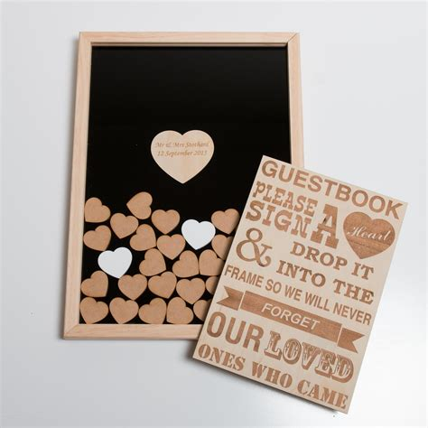 Wedding Box And Guest Book by Guest Book Wall Shadow Box Hearts Blacklist Prints