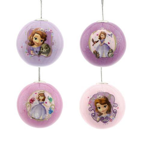 disney princess sofia the first christmas ornaments 4 ct
