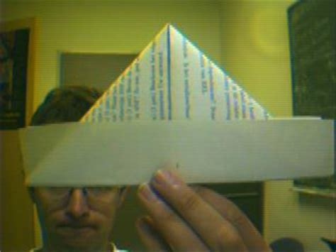 Origami Hat Boat - traditional origami boat