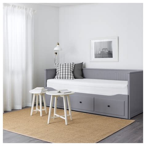 hemnes day bed hemnes day bed w 3 drawers 2 mattresses grey moshult firm