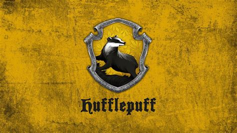 harry potter badger hufflepuff  yellow background hd