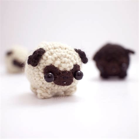 pug plushies crochet pug amigurumi plush by mohustore on etsy