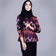 Model Baju Batik Modern 20 model baju muslim batik modern - remaja ...