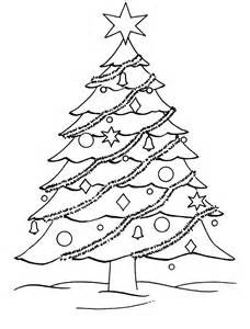 Christmas Tree Coloring Pages Kids sketch template