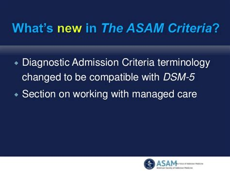 dsm 5 sections what s new in the asam criteria