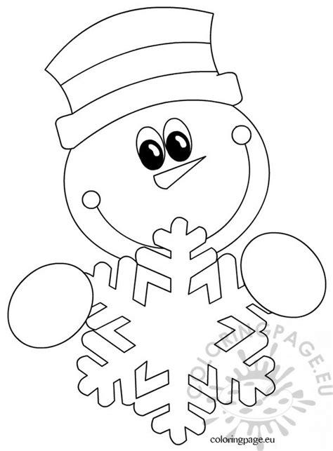 snowman snowflake coloring page