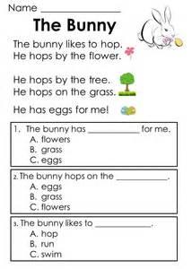 Read passages reading easter activities kindergarten