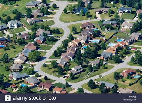 aerial photo of houses of subdivision floyds knobs indiana