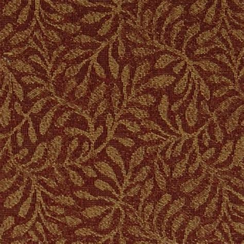red gold upholstery fabric berry red and gold foliage chenille upholstery fabric