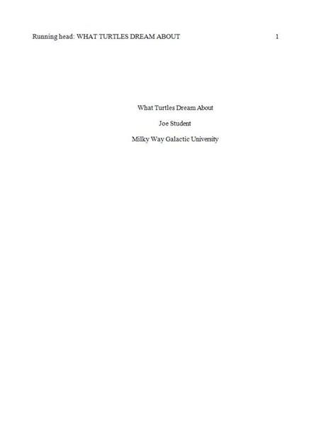 Paper Formatting For Apa
