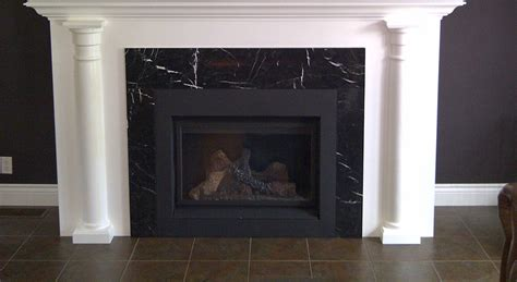 Nero Marquina Marble Fireplace Surround   Northern Marble