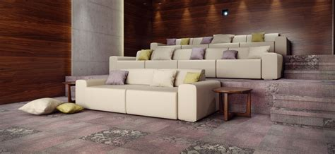 brown sofa set in home theater room wallpaper theater room sofas media room furniture theater dark