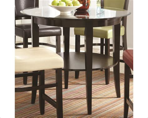 dining pub table coaster dining pub table w shelf co 103688