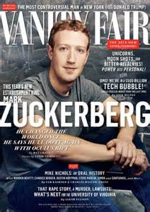 s zuckerberg poses for vanity fair after