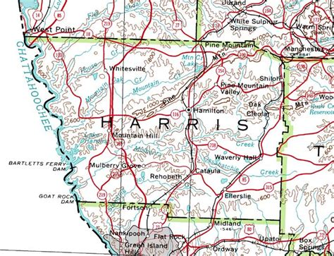 zip code map harris county georgiainfo