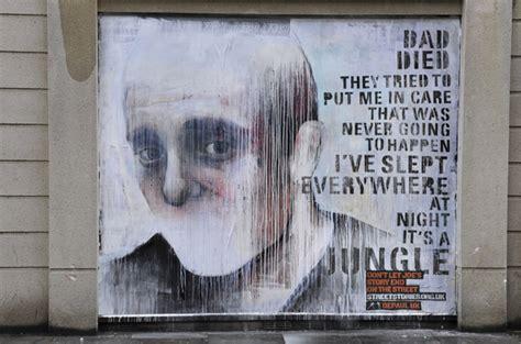 street art murals  sad tales   homeless