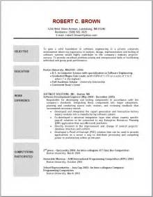 writing resume objective student resume template