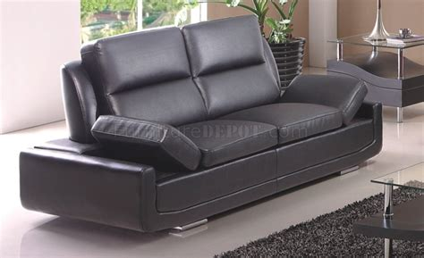 souli sofa in black bonded leather by american eagle furniture