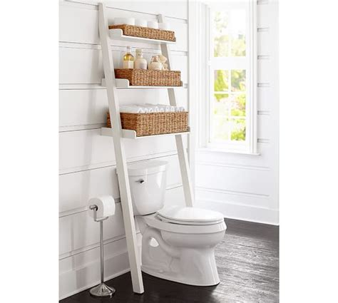 over the toilet ladder ainsley over the toilet ladder pottery barn