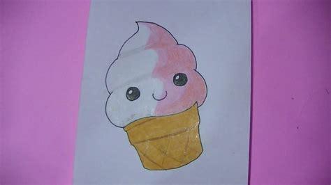 Imagenes Kawaii De Comida Para Dibujar | como dibujar pintar helado kawaii semana comida kawaii