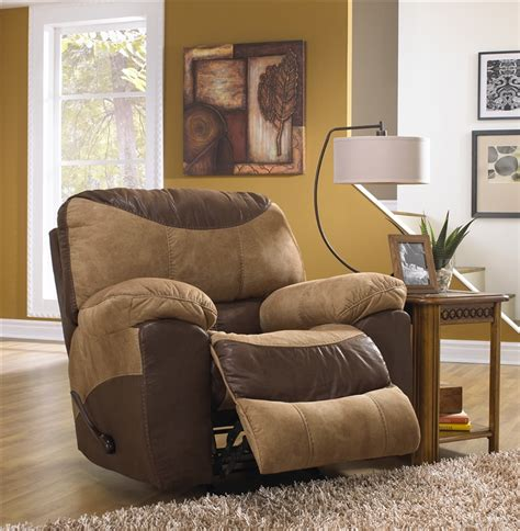 Two Tone Reclining Sofa Portman 2 Reclining Sofa Reclining Loveseat Set In Two Tone Chocolate And Saddle Fabric