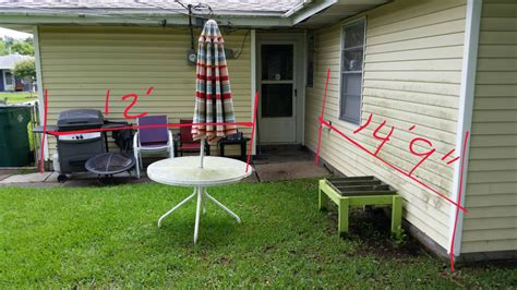 how to cement backyard construction how to build deck starting in yard ending